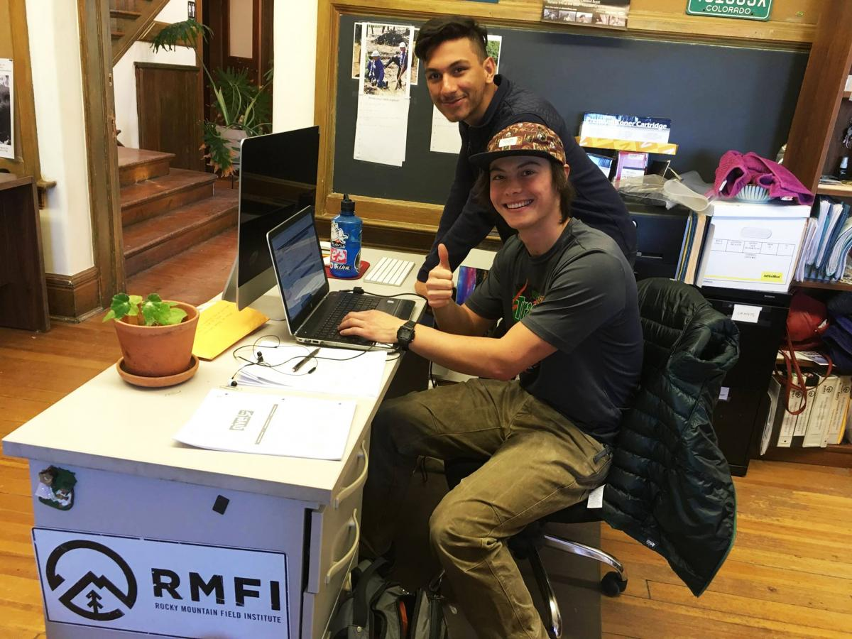 Ace, Bonner Fellow, and Peter, RMFI Intern.